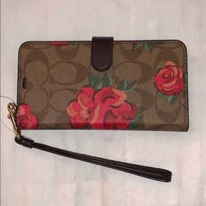 Coach IPhone XS Max wallet case floral
